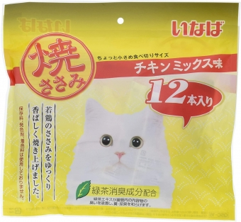 Inaba Cat Snacks Chicken Fillet 12 ชิ้น