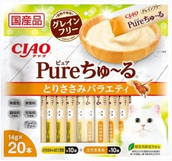 Chao (CIAO) Cat Snack Pure Churu Chicken Fillet Variety 14g x 20