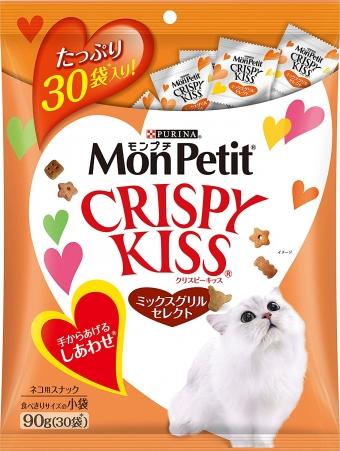 Mon Petit Crispy Kiss Mix Grill Select For Cats 90g (3g x 30 bags)
